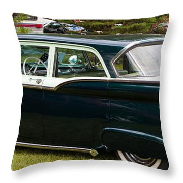 Throw Pillow featuring the photograph Ford Classic Automobile by Mick Flynn