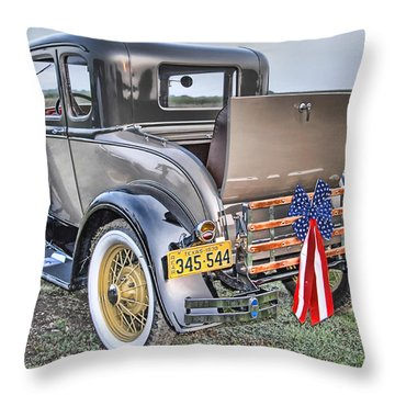 Throw Pillow featuring the photograph Ford Classic by Dyle   Warren