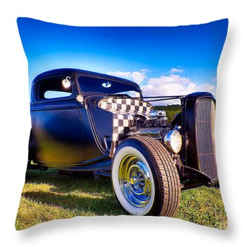 Ford Coupe Hot Rod Throw Pillow