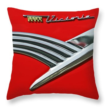 Ford Crown Victoria Emblem Throw Pillow by Jill Reger