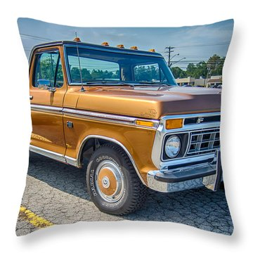 Ford F-100 7p00531h Throw Pillow