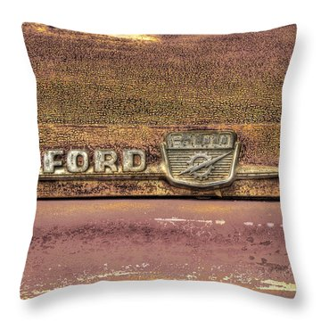 Ford F-100 Throw Pillow by Thomas Young