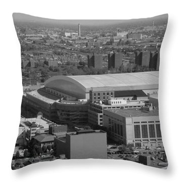 Ford Field Bw Throw Pillow