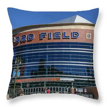 Ford Field  Throw Pillow