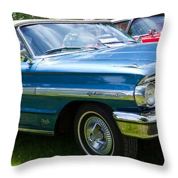 Ford Galaxie 520 Xl Throw Pillow by Mick Flynn