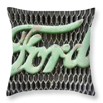 Ford Grille Throw Pillow by Laurie Perry