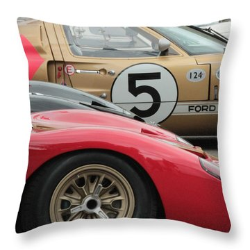 Ford Gt 40's Throw Pillow