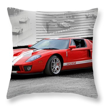 Ford Gt And Gt40 Memories Throw Pillow