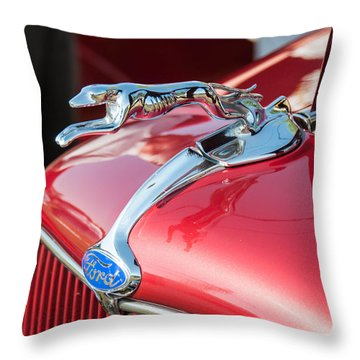 Ford Hood Throw Pillow by Guy Whiteley