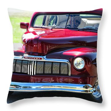 Ford Mercury Eight Throw Pillow