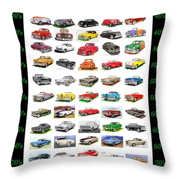 Four Decades Of Fords Poster Throw Pillow