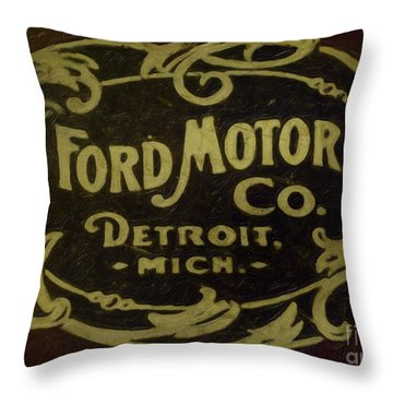 Ford Motor Company Throw Pillow