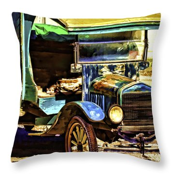 Throw Pillow featuring the painting Ford by Muhie Kanawati