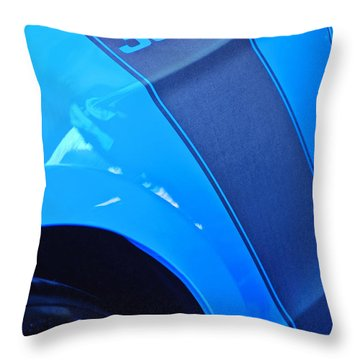 Ford Mustang Boss 302 Emblem Throw Pillow by Jill Reger