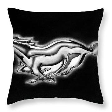 Ford Mustang Emblem Throw Pillow by Peter Piatt