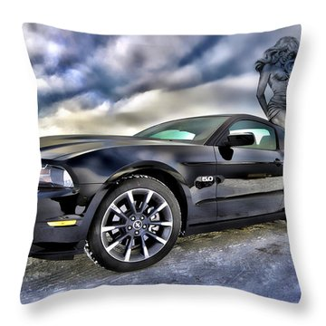 Ford Mustang - Featured In Vehicle Eenthusiast Group Throw Pillow by EricaMaxine  Price
