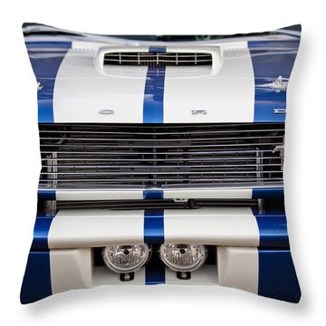 Ford Mustang Grille Emblem Throw Pillow by Jill Reger