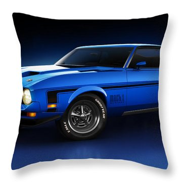 Ford Mustang Mach 1 - Slipstream Throw Pillow
