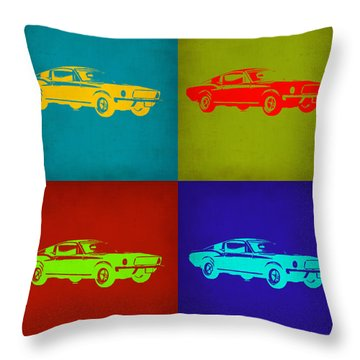 Ford Mustang Pop Art 1 Throw Pillow