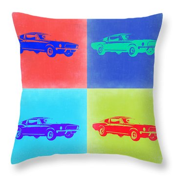 Ford Mustang Pop Art 2 Throw Pillow