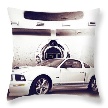 Ford Mustang Shelby Gt  Throw Pillow by Gray  Artus