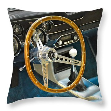 Ford Mustang Shelby Throw Pillow by Pamela Walrath