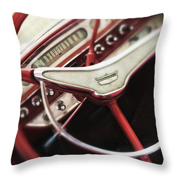 Throw Pillow featuring the photograph Ford Sunliner by Bradley R Youngberg