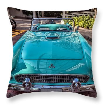 Ford Thunderbird  Throw Pillow by Adrian Evans