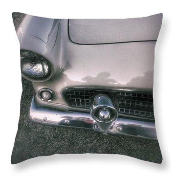 Ford Thunderbird Bw 3 Throw Pillow