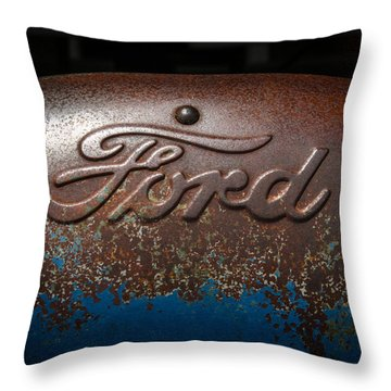Ford Tractor Logo Throw Pillow