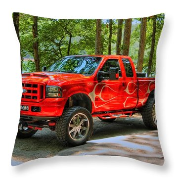 Ford Truck 01 Throw Pillow