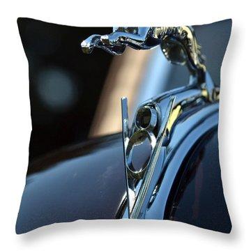 Ford V-8 Hood Ornemant Throw Pillow by Dean Ferreira