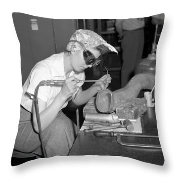 Ford Willow Run Bomber Plant. Throw Pillow