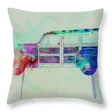 Ford Woody Throw Pillow by Naxart Studio