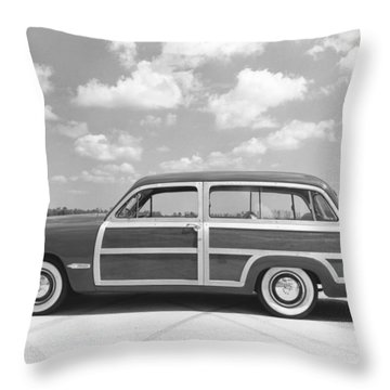 Ford Woody Station Wagon Throw Pillow