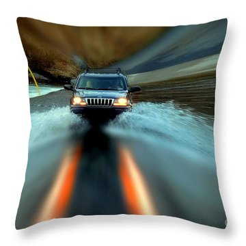 Fording The Jordan Throw Pillow