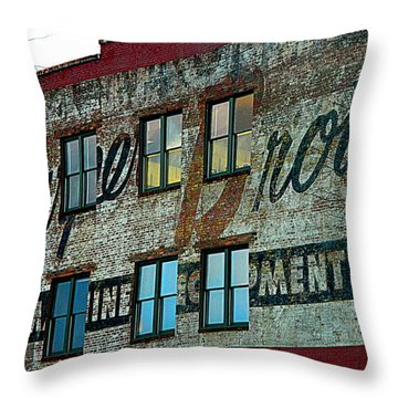 Fords Restaurant In Greenville Sc Throw Pillow by Kathy Barney