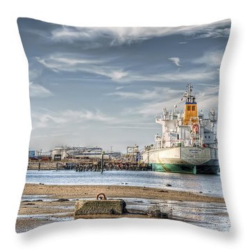 Throw Pillow featuring the photograph Fore River Sights by Richard Bean