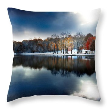 Foreboding Beauty Throw Pillow