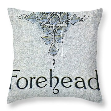 Throw Pillow featuring the photograph Forehead Headstone by Jeff Lowe