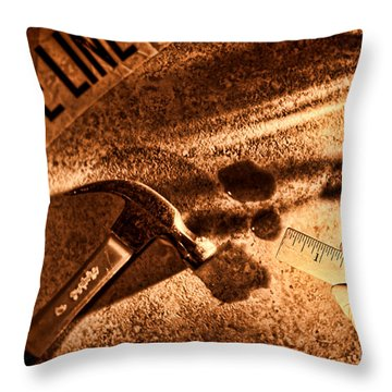 Forensic Throw Pillow by Olivier Le Queinec
