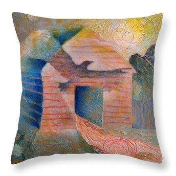 Foreshadowing Of A Twister Storm On The Wish-farm Throw Pillow