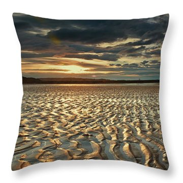 Foreshore At Dusk Throw Pillow
