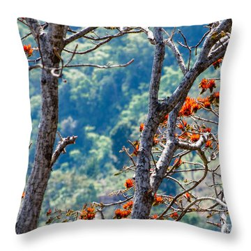 Forest And Bird Throw Pillow