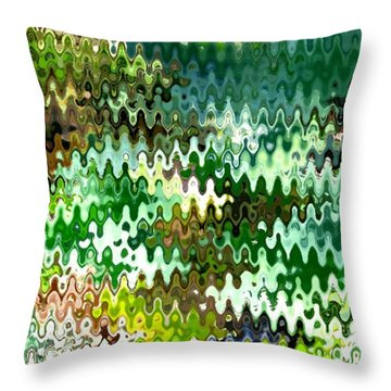 Throw Pillow featuring the photograph Forest by Anita Lewis