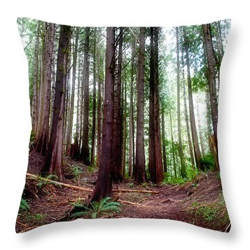 Forest Throw Pillow by Adria Trail