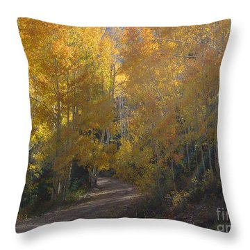 Forest Bathing Throw Pillow by Deborah Moen