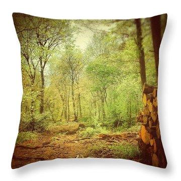 Forest Throw Pillow by Daniel Precht
