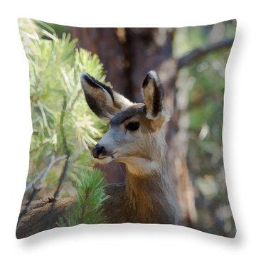 Forest Doe Throw Pillow