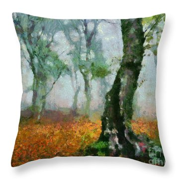 Forest Edge Throw Pillow